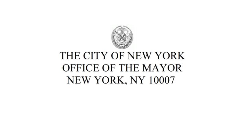 The City of New York Office of the Mayor New York, NY 10007